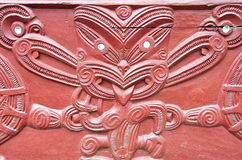 Maori Wood Carving Stock Image