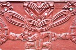Maori Wood Carving Stock Image