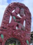 Maori wood carving Stock Images