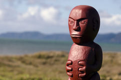 Maori wood carving Royalty Free Stock Images