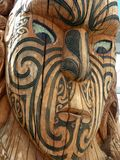 Maori Wood Carving, New Zealand Royalty Free Stock Images