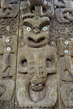 Maori Wooden Carving, NZ Stock Images