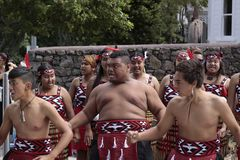 Maori Youths Perform Haka ICC CWC 2015 Immagini Stock