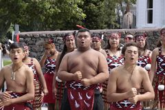 Maori Youths Perform Haka ICC CWC 2015 Royalty Free Stock Image