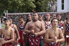 Maori Youths Perform Haka ICC CWC 2015 Royalty Free Stock Image