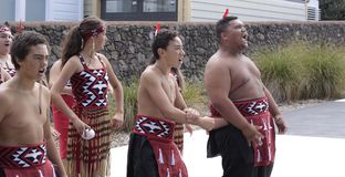 Maori Youths Perform Haka ICC CWC 2015 Royalty Free Stock Photos