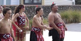 Maori Youths Perform Haka ICC CWC 2015 Royalty Free Stock Photos