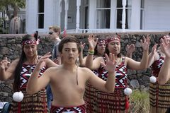 Maori Youths Perform Haka ICC CWC 2015 Stock Images
