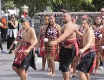 Maori Youths Perform Haka ICC CWC 2015 Royalty Free Stock Photo