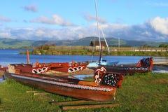 Maorifartyg Arkivbild