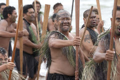 Maoris at a Haka Stock Image
