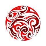 Maoritatuering Arkivbild