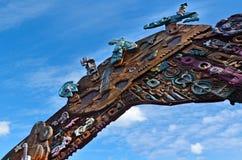 Maoritillträdesport på den Aotea fyrkanten i Auckland - Nya Zeeland Arkivbild