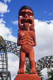 Maoryjska sztuki postać Zdjęcia Stock