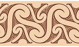maoryjski deseniowy tatuaż Fotografia Stock