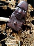 Maoryjski drewniany cyzelowanie Zdjęcie Stock