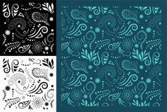 Maoryjski Koru Bezszwowy wzór Fotografia Royalty Free