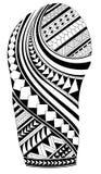 Maoryjski tatuaż fotografia royalty free