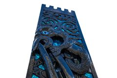 Maoryjskich cyzelowań Biały Odosobniony tło obrazy royalty free