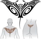 Maoryjski manta tatuażu projekt Obrazy Stock