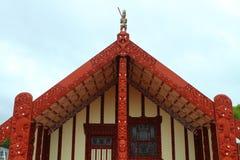 Maorysa dom w Rotorua Obrazy Stock
