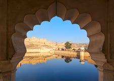 Maota Lake e Amber Fort a Jaipur, Rajasthan, India, Asia