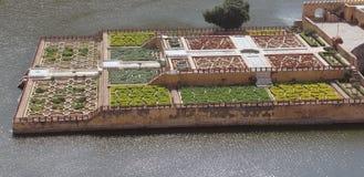 Maota Lake and Mughal Garden Royalty Free Stock Photo