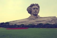 Maozedong skulptur Fotografering för Bildbyråer
