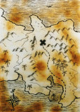 Map Royalty Free Stock Photo