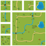 Map. Segments for easy creating own maps Royalty Free Stock Photography