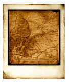 Map. Polaroid film frames with map Royalty Free Stock Photo