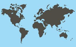 Map. World map stock illustration