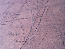 Map. Texas map carved in granit Royalty Free Stock Images