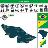 Map of Acre, Brazil Royalty Free Stock Image