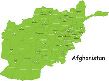 Map of Afghanistan Stock Photography