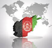 Map of Afghanistan Royalty Free Stock Photo