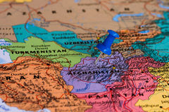 Map of Afghanistan Royalty Free Stock Photos