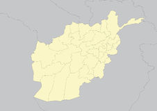 Map of Afghanistan Stock Images