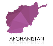 Map of Afghanistan illustrated Royalty Free Stock Image