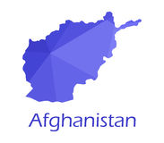 Map of Afghanistan illustrated Royalty Free Stock Photography