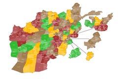 Map of Afghanistan vector illustration