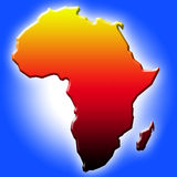 The Map of Africa. Contour map of Africa - computer generated Stock Image
