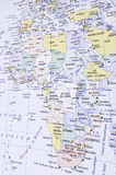 Map of Africa. This image shows the Map of Africa, seen in perspective Stock Images