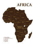 Map of Africa Stock Photography