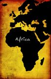 Map of Africa Stock Images