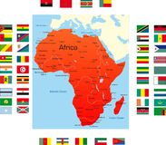 Map of Africa Stock Photo