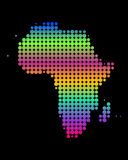 Map of Africa. Colorful map of Africa on black Royalty Free Illustration