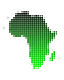 Map of Africa. In green dots Royalty Free Illustration