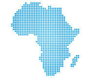 Map of Africa. Abstract map of the Africa made of blue boxes Stock Image