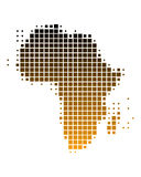 Map of Africa in brown squares. Map of Africa in squares with brown gradient Royalty Free Illustration